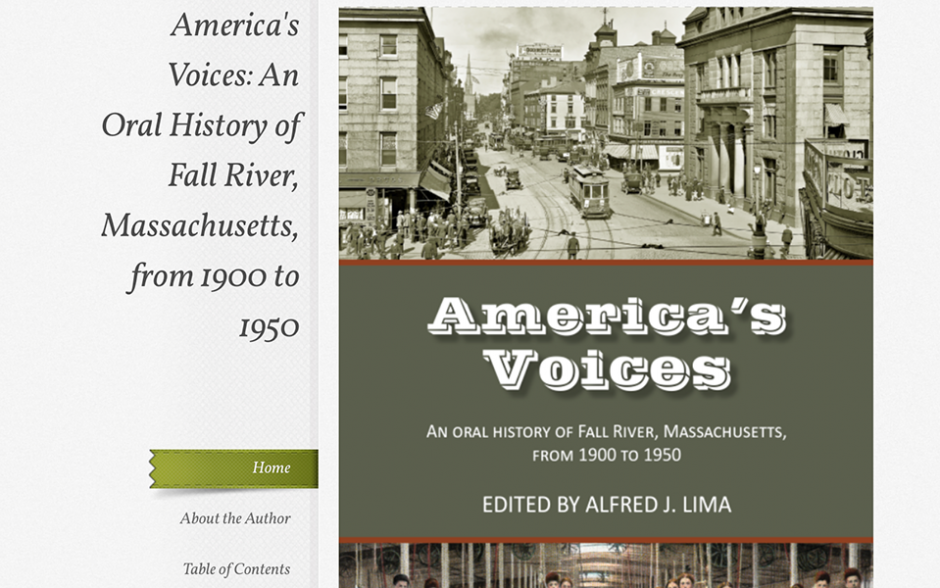 America's Voices: An Oral History of Fall River, Massachusetts, from 1900 to 1950, by Alfred J. Lima