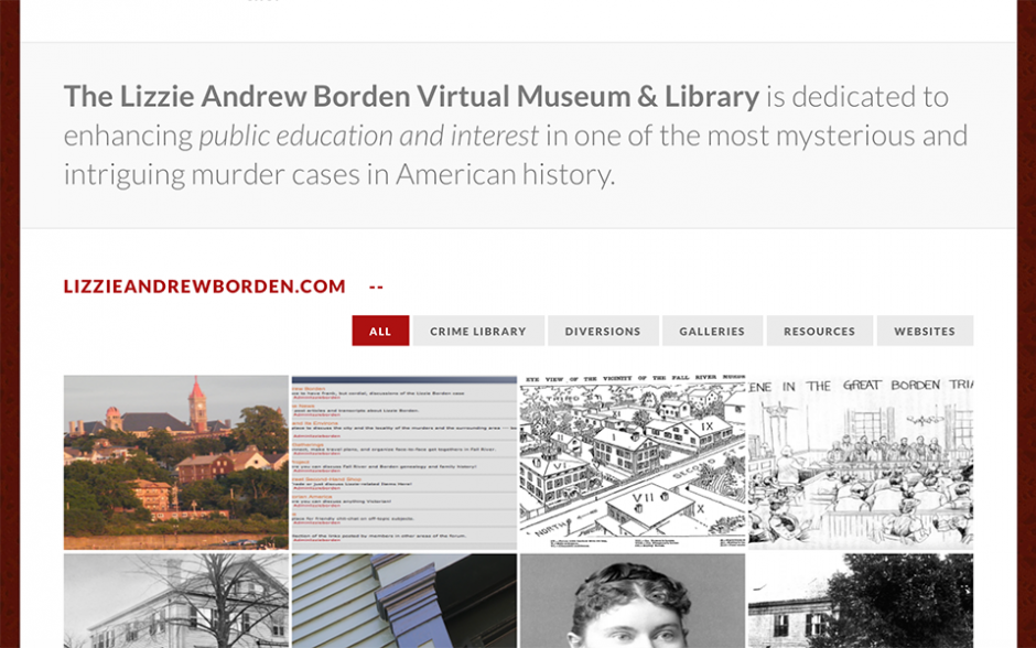 The Lizzie Andrew Borden Virtual Museum and Library